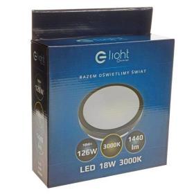 PLAFON CEILING LIGHT 18W LED 3000K CZARNY IP65 EKP712