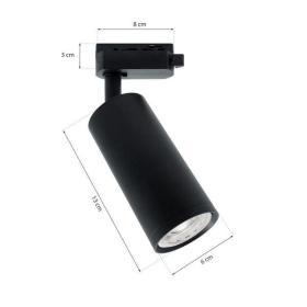 Reflektor spot szyno przewodu PROFILE MICA BLACK track light 1xGU10 czarna 1F
