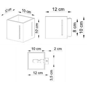 Kinkiet Sollux PIXAR Aluminium, Biały G9 40W, SL.0395