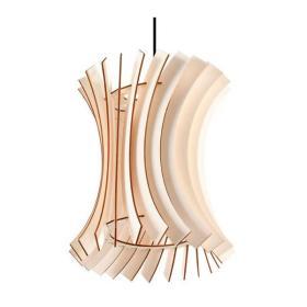 Lampa wisząca ORIANA, naturalne drewno, czarny PCV, SL.0642