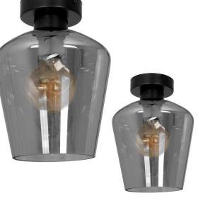 Nowoczesna lampa sufitowa plafon SANTIAGO SMOKED MLP6603