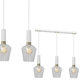 Nowoczesna lampa wisząca listwa ROMA WHITE MLP6488