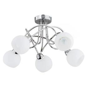Nowoczesna lampa sufitowa PABLO GLASS OP. 5 PŁ