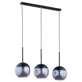 Nowoczesna lampa wisząca VOLDA BLACK OP. OŚW. 3 PŁ