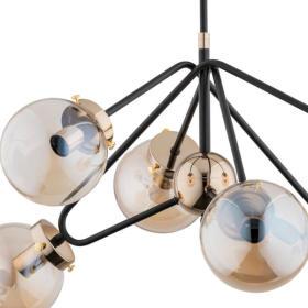 Nowoczesna lampa sufitowa ELBA GOLD OP. OŚW. 6 PŁ