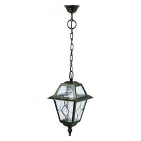 Klasyczna lampa wisząca na łańcuchu Witraż K 1018/1/NC | zielony