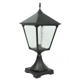 Lampa stojąca zewnętrzna Retro Kwadratowe K 4011/1/BD KW | mosiądz