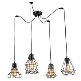 Druciana lampa Light Prestige IMPERIA spider IV wisząca 2m LP-2309/4P BK + RABAT w koszyku !!!