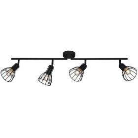 Lampa listwa czarna z drutu 4pkt Spot Light MEGAN 105cm