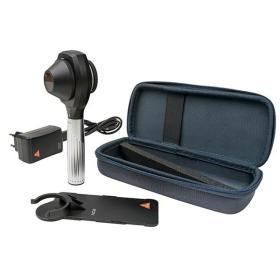 Dermatoskop Heine NC2 z płytką kontaktową ze skalą, ładowarką E4-USB, walizeczka