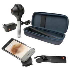 Dermatoskop Heine NC2 z płytką kontaktową ze skalą, ładowarka E4-USB, walizeczka, obudowa do telefonu