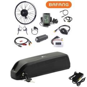 Elektryczny zestaw do roweru elektrycznego Bafang 500W 48V Tył Kaseta Kompletne koło + bateria 14Ah