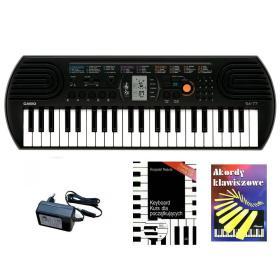 Casio SA-77 - keyboard + zasilacz + książeczki + kurs CD - Raty 10x0%!