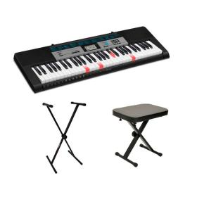 CASIO LK-136 - keyboard + statyw + ława - Raty 10x0%!