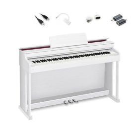 Casio AP-470 WE - pianino cyfrowe + adaptery do iOS / Android do Chordana Play - Raty 10x0%!