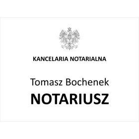 szyld grawerowany notariusz, kancelaria ...