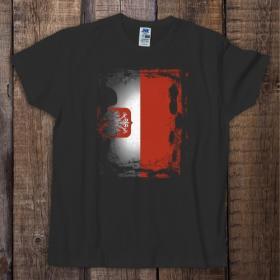 Koszulka męska czarna - Flaga Polski