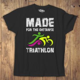 Koszulka męska biała/czarna - Triathlon