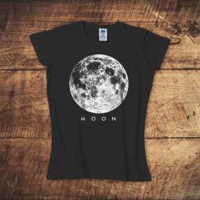 Koszulka damska czarna – Moon