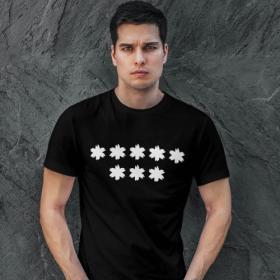Koszulka Męska Czarna - Piekło Kobiet 8 gwiazdek ***** *** Strajk