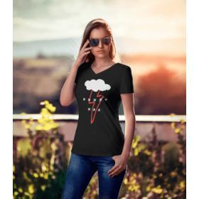 Koszulka damska czarna - Piekło Kobiet ***** *** Strajk