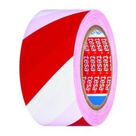 Taśma ostrzegawcza biało-czerwona 33mx50mm TESA