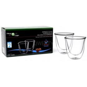 Szklanki termiczne do kawy Espresso 2 szt 70ml CFL-655