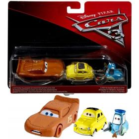 Cars 3 Auta Luigi + Guido + Chester McQueen Zygzak Mattel