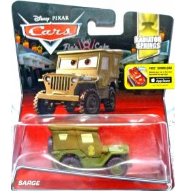 Cars Auta skala 1:55 Chłodnica Górska Sarge Kamasz Sierżant Disney Mattel