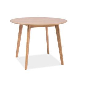 Okrągły stół Mosso II fi100 dąb mdf/okleina/drewno Signal