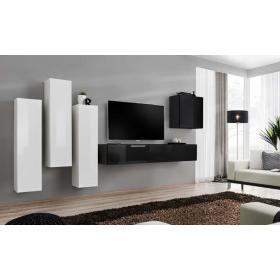 Meblościanka switch 3 biało-czarny mat/połysk