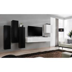 Meblościanka switch 3 czarno-biały mat/połysk