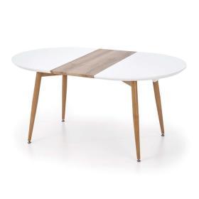 Rozkładany stół Edward 120(200)x100 biel/dąb san remo mdf/stal Halmar