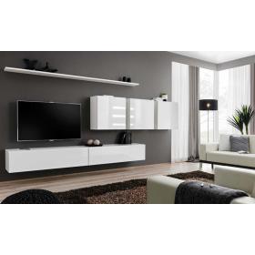 Meblościanka switch 7 biało-czarny mat/połysk