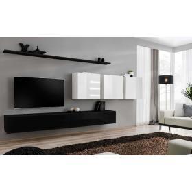 Meblościanka switch 7 czarno-biały mat/połysk