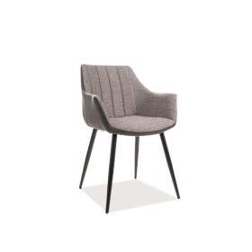 Krzesło Bruno szara tkanina/czarny metal signal