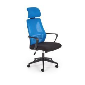 Fotel pracowniczy Valdez niebieski/czarny tkanina membranowa/siatka Halmar