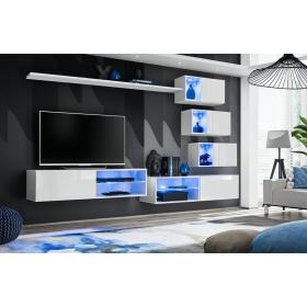 Meblościanka Switch 24 biały połysk + LED