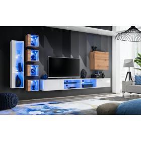 Meblościanka Switch 26 biały - wotan mat/połysk + LED