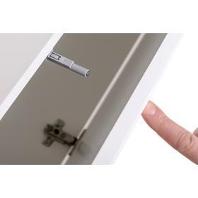 Meblościanka z metalowym regałem Switch M 8 biały połysk/czarny mat + LED