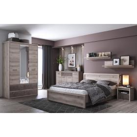 Łóżko z pojemnikiem i półkami Jazz 160 kasztan nairobi