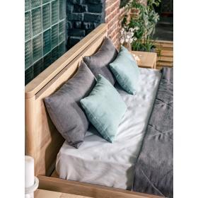 Drop Hard łóżko do sypialni 160x200 drewno olejowane (olej lniany)