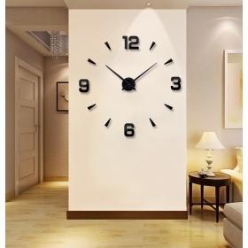 Ogromny Zegar Ścienny 3D (regulowana średnica od 65-150cm!!) - w 2 Kolorach do Wyboru.