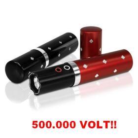 Paralizator Obronny (500 tyś. Volt!!) Ukryty w Flakoniku na Perfumy + Latarka LED (w 3 kolorach).