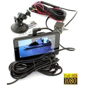 3w1!! Rejestrator Samochodowy FHD + Kamera Parkowania + Rejestrator Wnętrza/Wokół Pojazdu (12/24V).