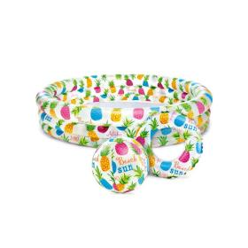 Zestaw Basen dla dzieci + kółko + piłka INTEX