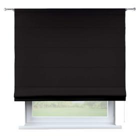 Dekoria.pl Roleta rzymska Torino, Black (czarny), szer.130 × dł.170 cm, Cotton Panama