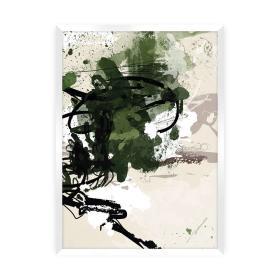 Dekoria.pl Plakat Abstract II, 30 x 40 cm, Ramka: Biała