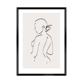 Dekoria.pl Plakat Body Line I, 50 x 70 cm, Ramka: Czarna