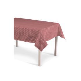 Dekoria.pl Obrus prostokątny, czerwono biała krateczka (0,5x0,5cm), 130 × 130 cm, Quadro